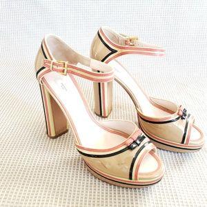 PRADA Heels  Women's size 40.5 Multi Color